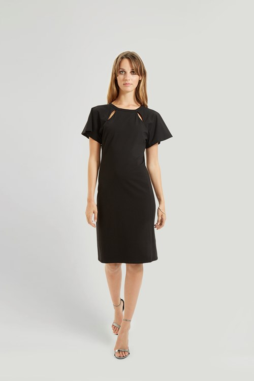 Marguerite Dress in Black from People Tree