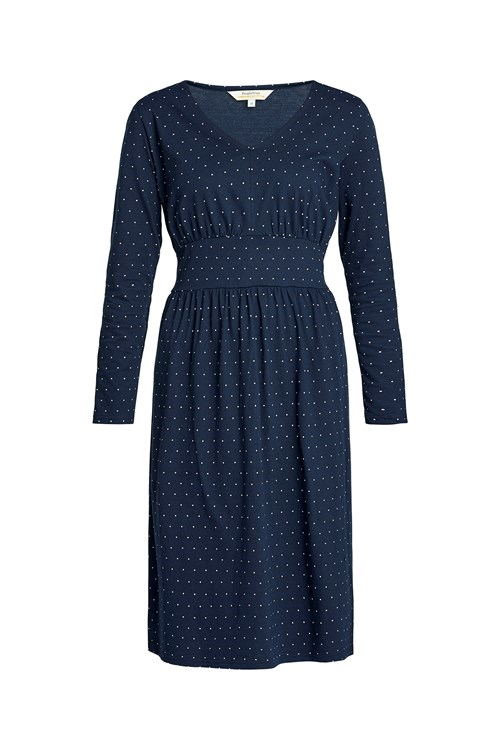 Maria Dot Dress in Navy