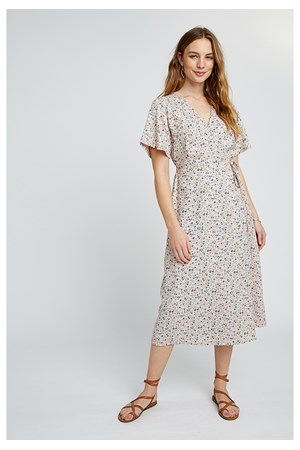 Meghan Meadow Wrap Dress