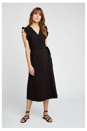 Melanie Wrap Dress in Black