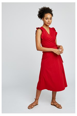 Melanie Wrap Dress in Red