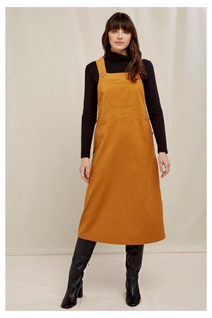 Mindy Corduroy Pinafore Dress