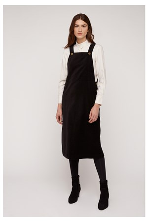 Mindy Velvet Pinafore Dress
