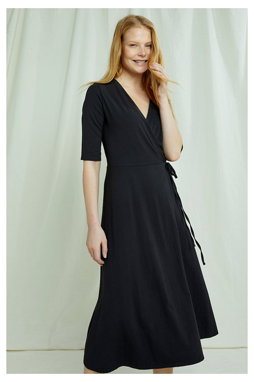 Mishka Wrap Dress In Black
