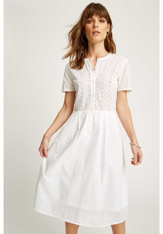 Nidia Broderie Shirt Dress