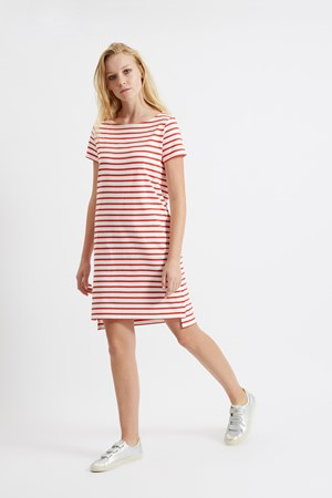 Nita Stripe Dress in Red
