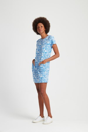 Peter Jensen Gorilla Print Tunic Dress in Blue