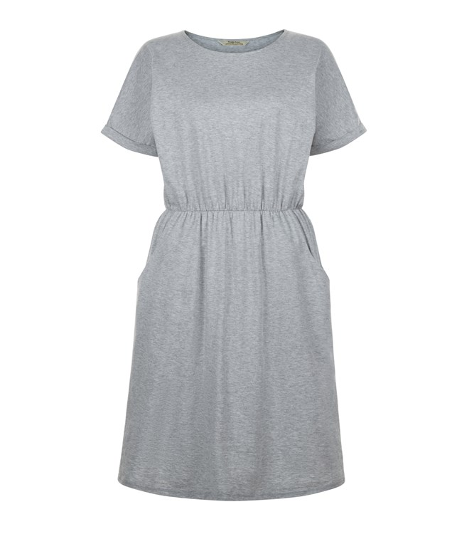 Rhona Pocket Dress in Grey Melange