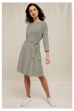 Rikka Stripe Dress In Green