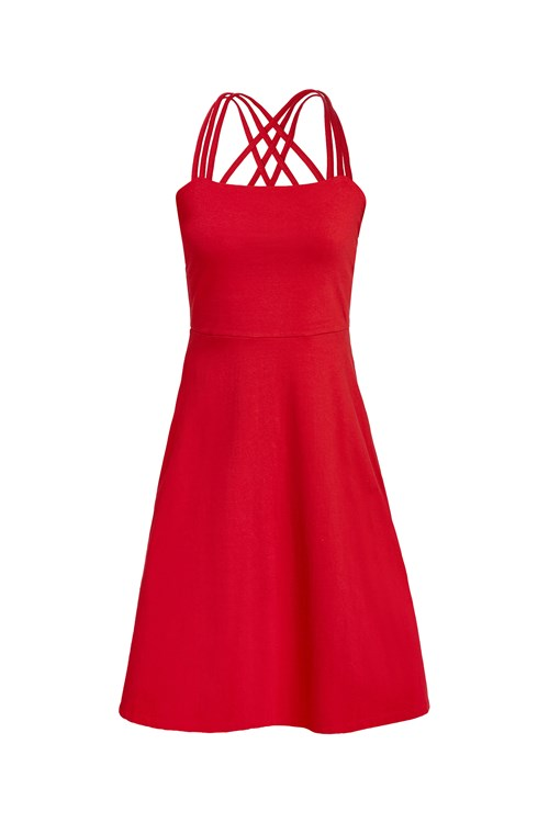 Riley Strappy Dress in Red