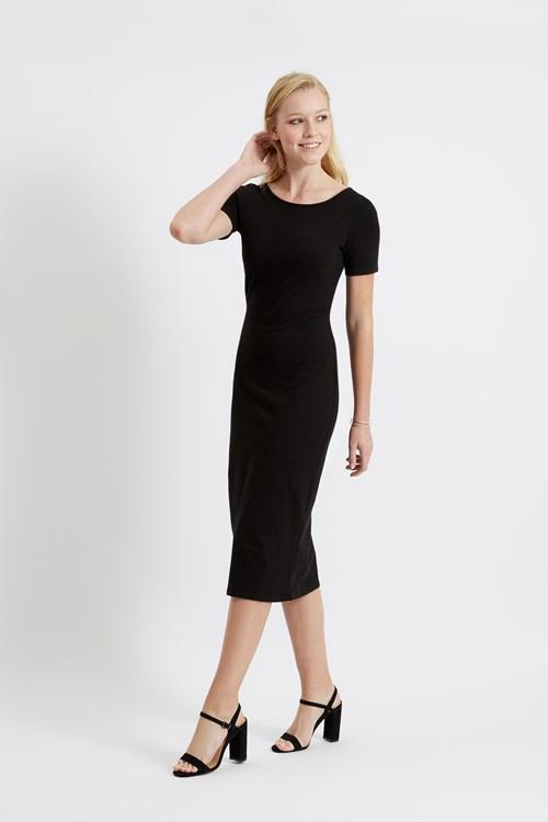 Sheridan Dress in Black from People Tree