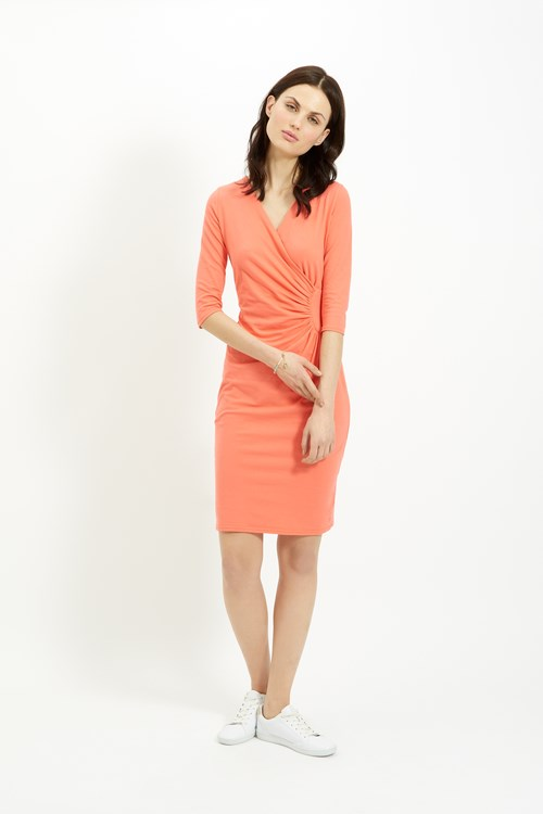 Stella Fitted Dress in Coral from People Tree