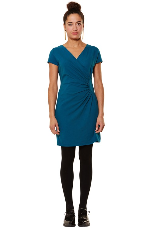 Stella Party Dress in Teal from People Tree
