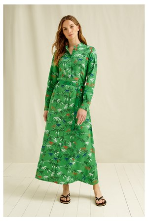V&A Bamboo Print Shirt Dress