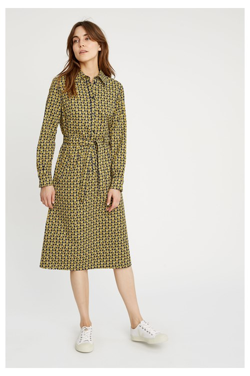 V & A Cosmic Print Shirt Dress from People Tree