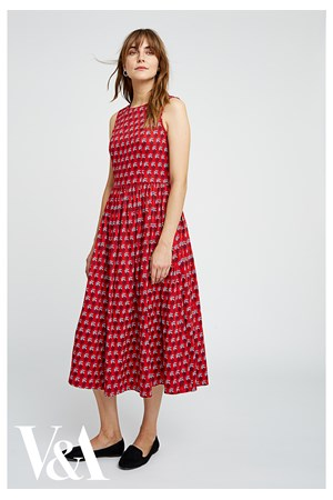 V&A Esther Print Midi Dress