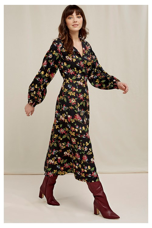 V&A Jardin Print Long Dress