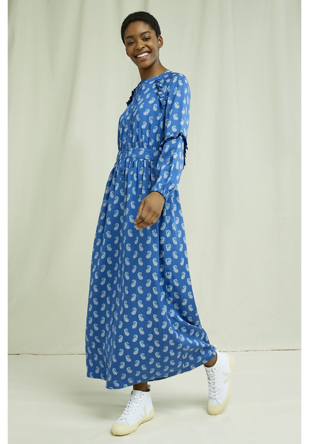 People Tree V&A Neha Print Maxi Dress