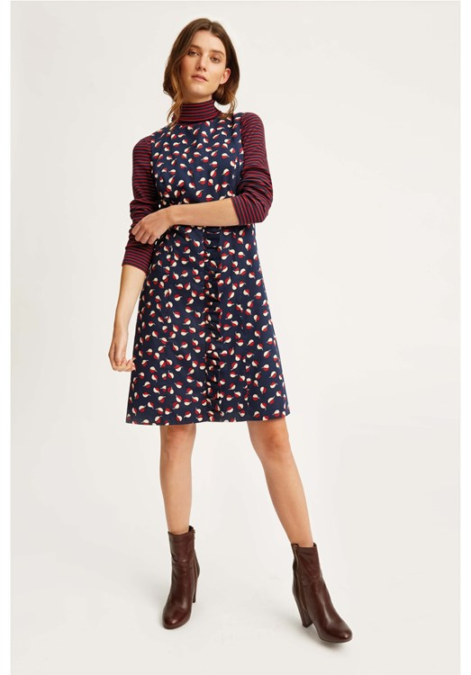V & A Seed Print Frill Dress from People Tree