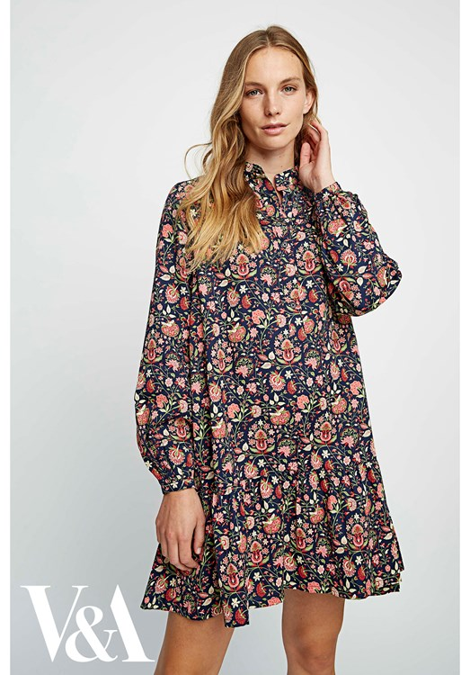 V&A Yasmin Print Flared Dress