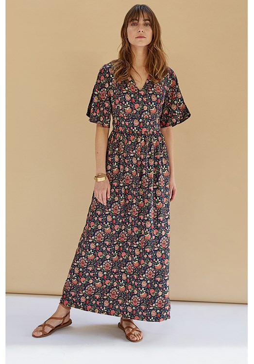 V&A Yasmin Print Maxi Dress