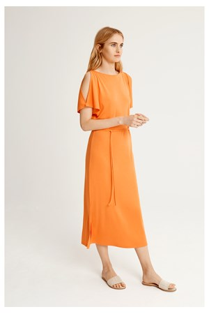 Victoria Dress in Dusty Orange