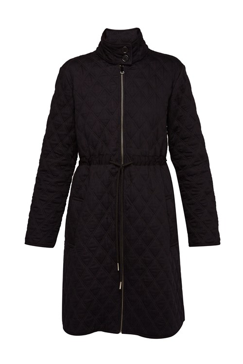 Lila Quilted Coat In Black