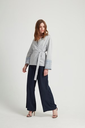 Malin Wrap Jacket in Blue