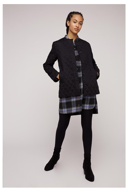 Tara Quilted Jacket In Black from People Tree