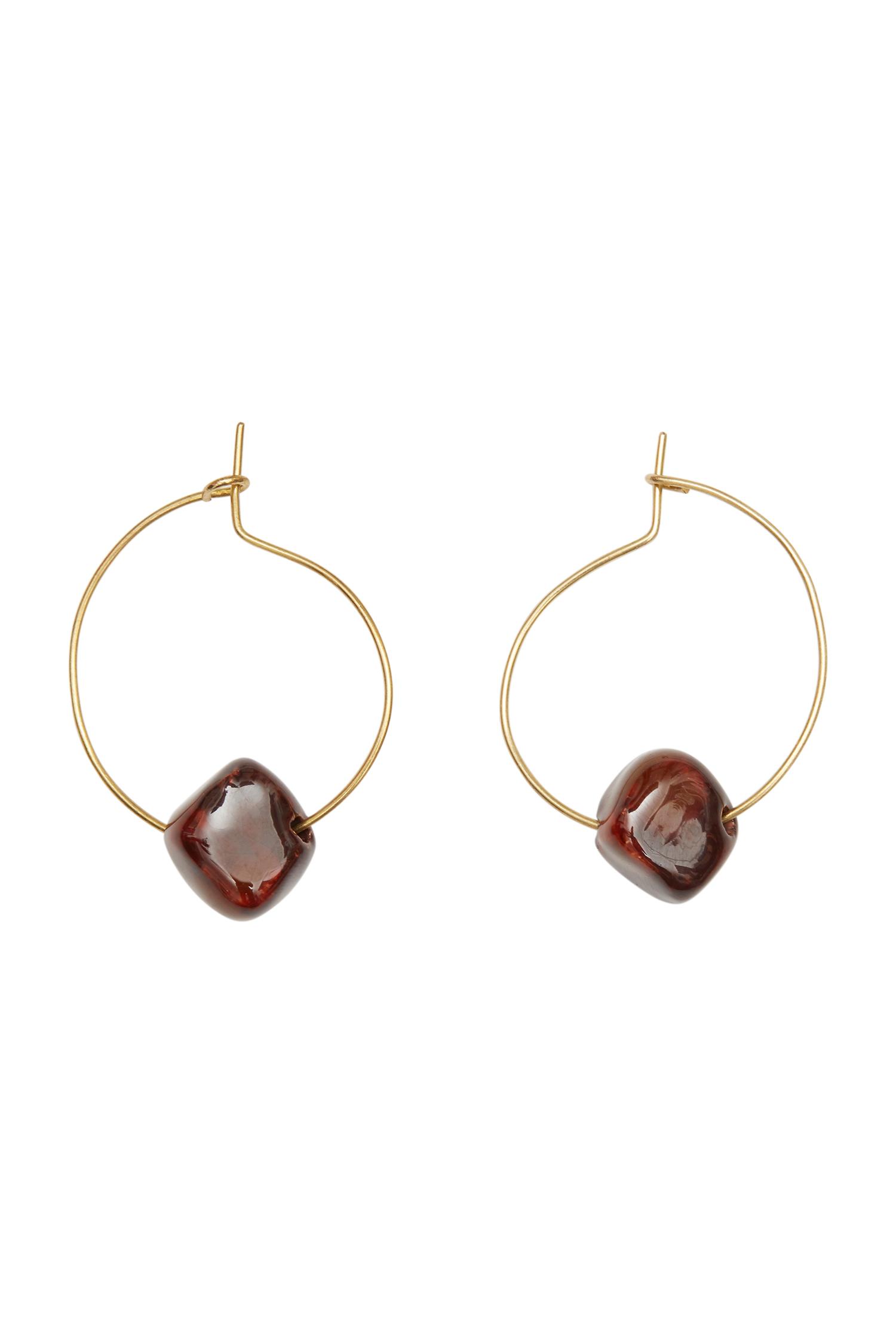Bead and Hoop Earrings