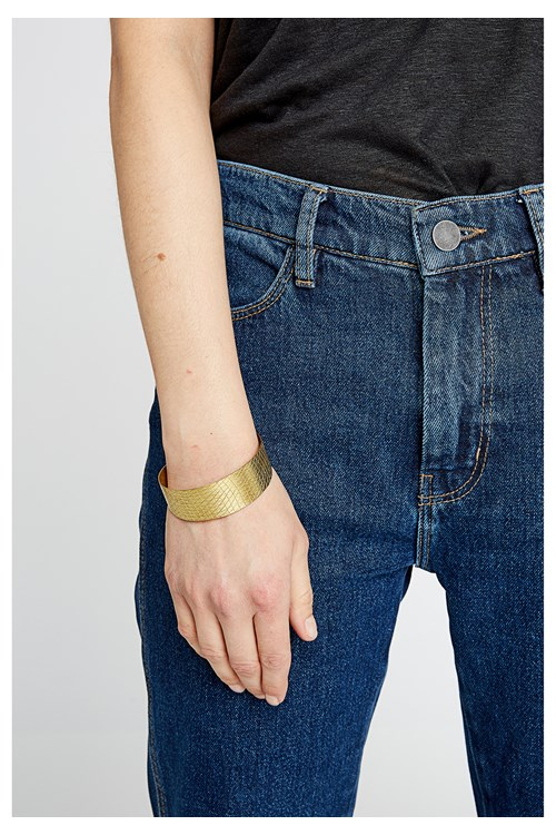 Brushed Cuff in Brass from People Tree