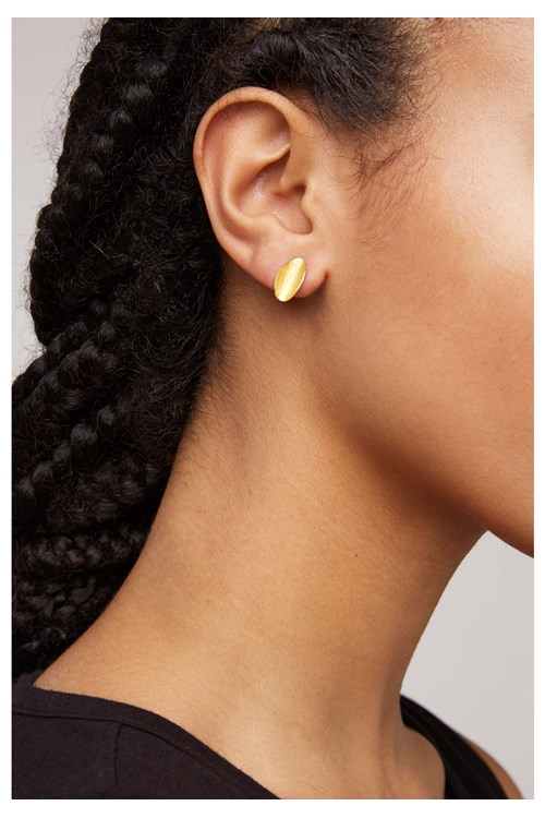 Curled Leaf Stud Earrings