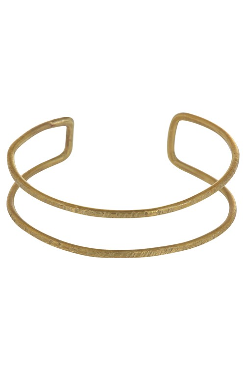 Double Bangle in Brass from People Tree