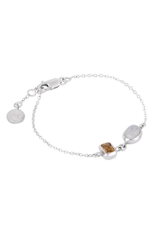Double Stone Bracelet Topaz & Moonstone from People Tree