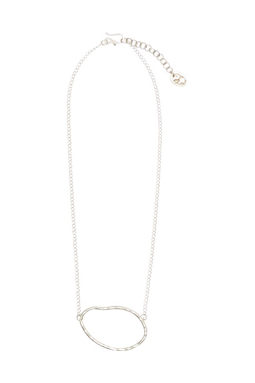 Ellipse Necklace in Silver