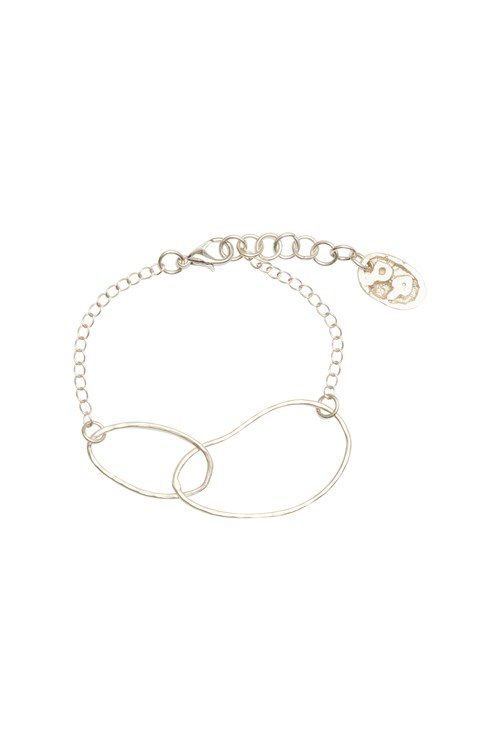 Linked Ellipse Bracelet in Silver