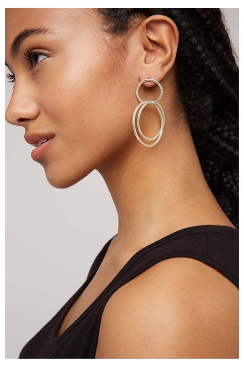 Linked Rings Earrings in Silver from People Tree