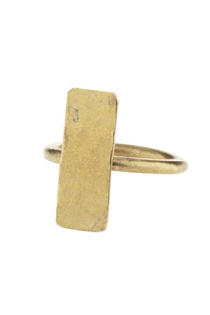 Minimal Bar Ring in Brass M/L