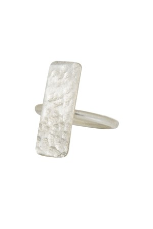 Minimal Bar Ring in Silver M/L