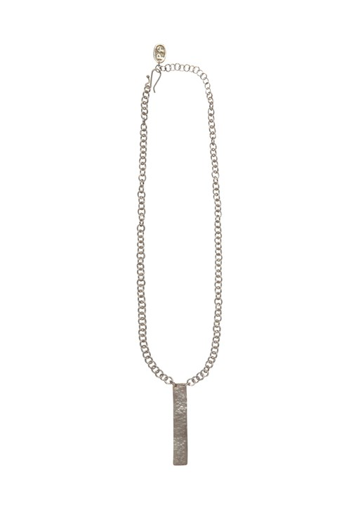 Minimal Post Necklace in Silver