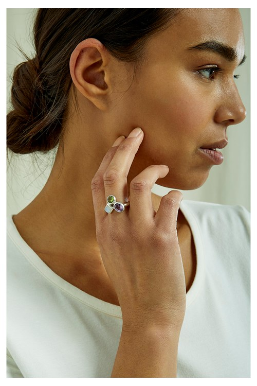 Moonstone Cluster Ring