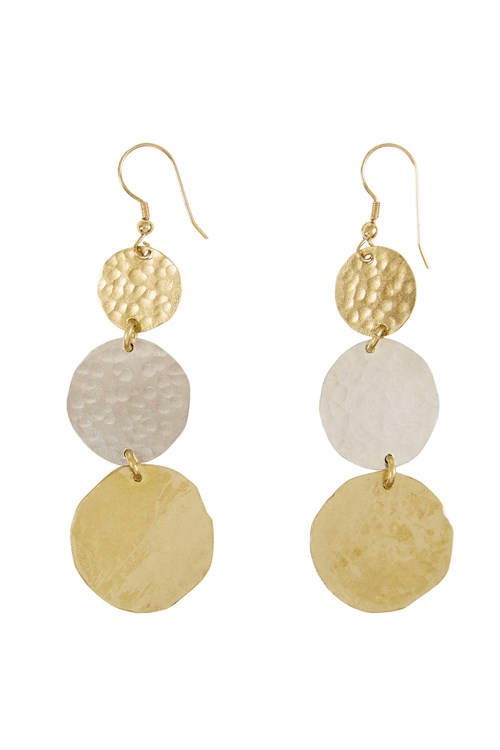 Organic Disk Earrings