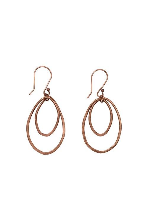 Oval Drop Earrings in Copper from People Tree