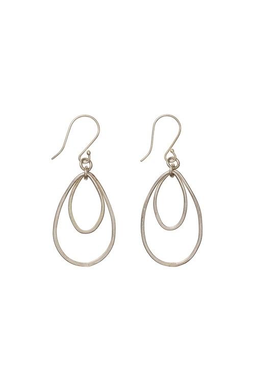 Oval Drop Earrings in Silver from People Tree