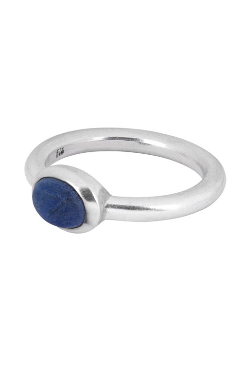 Oval Ring In Lapis Lazuli & Silver