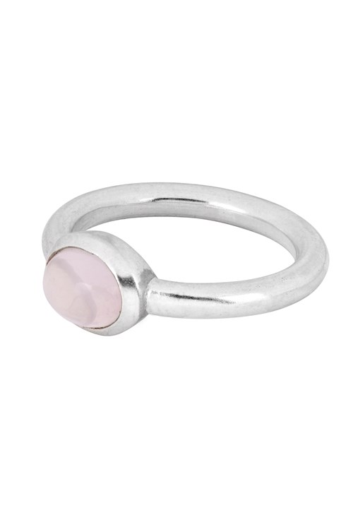 Oval Ring In Rose Quartz from People Tree