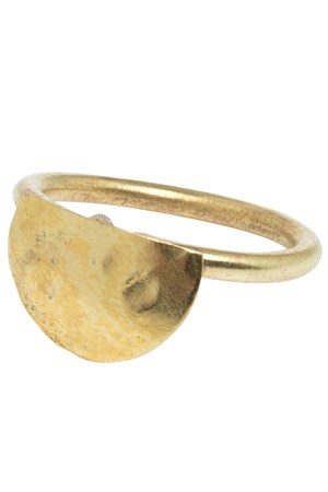 Semi Circle Ring in Brass