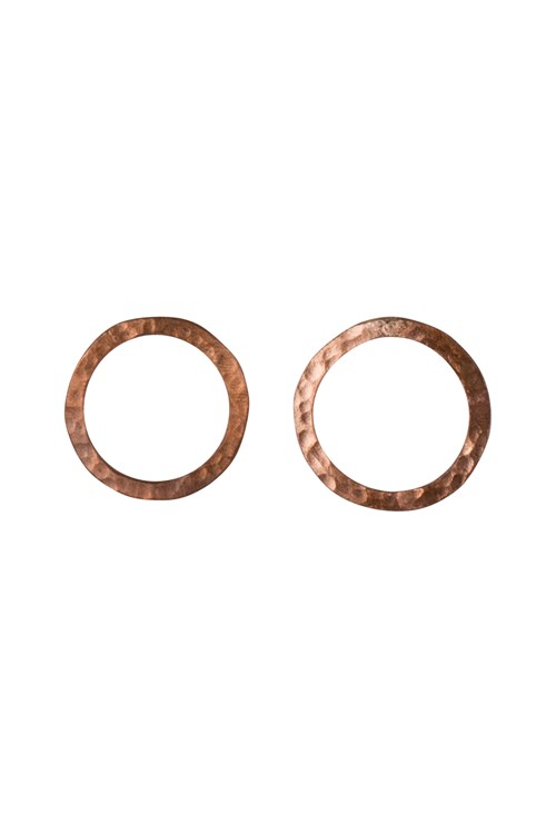 Simple Circle Earrings in Copper from People Tree