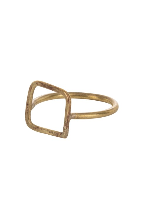 Square Ring Brass from People Tree