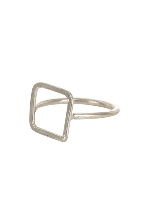 Square Ring Silver